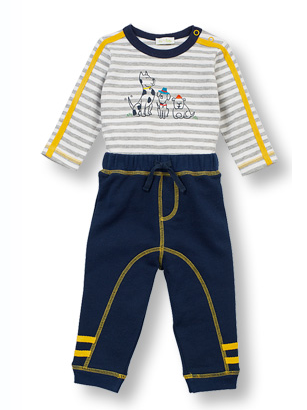 Dog Appliqued 2 Piece Outfit - Too Cute for You Baby and Toddler Boutique - 1