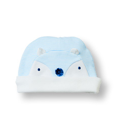 Light Blue Stripe Pull-On Cap Little Fox - Too Cute for You Baby and Toddler Boutique - 1