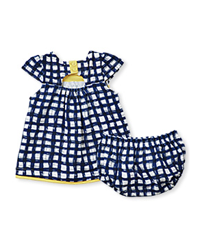 Gingham Duckie Dress with Bloomers - Too Cute for You Baby and Toddler Boutique - 1