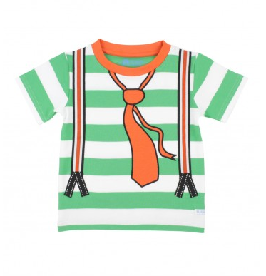 Green/White Striped Suspender Tee - Too Cute for You Baby and Toddler Boutique - 1