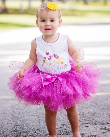 Growing Hearts Bodysuit & Sparkle Tutu Set - Too Cute for You Baby and Toddler Boutique - 1
