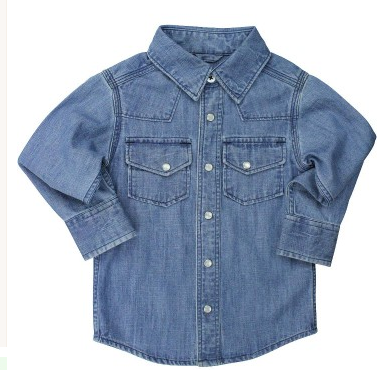 Jean Button Down Collar Shirt - Too Cute for You Baby and Toddler Boutique - 1