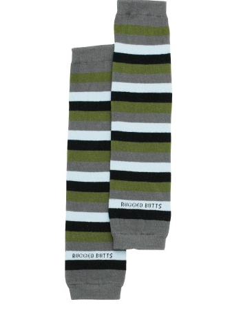 Grey '3 Stripes Your Out' LegWarmers - Too Cute for You Baby and Toddler Boutique - 1