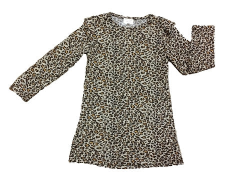 Cheetah Print Long Sleeve Dress - Too Cute for You Baby and Toddler Boutique