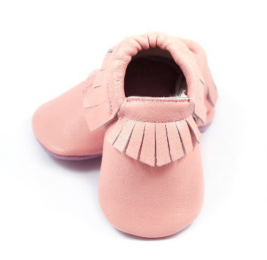 Pink Moccasins - Too Cute for You Baby and Toddler Boutique