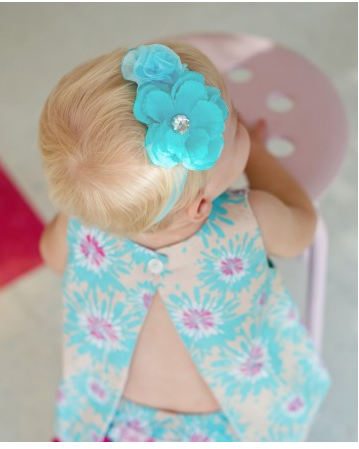 Blue Maya Headband - Too Cute for You Baby and Toddler Boutique - 2