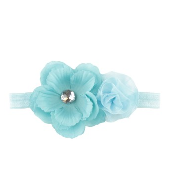 Blue Maya Headband - Too Cute for You Baby and Toddler Boutique - 1