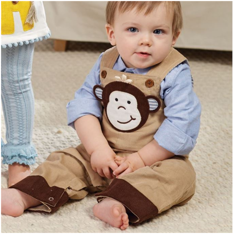 Monkey Overall - Too Cute for You Baby and Toddler Boutique