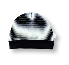 Navy Stripe Pull-On Cap - Too Cute for You Baby and Toddler Boutique - 1