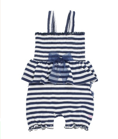 Navy Fit & Flare Romper - Too Cute for You Baby and Toddler Boutique - 1