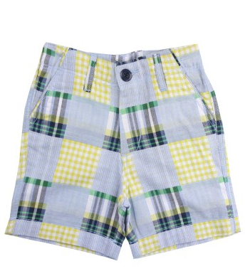 Patchwork Madras Plaid Shorts - Too Cute for You Baby and Toddler Boutique - 1