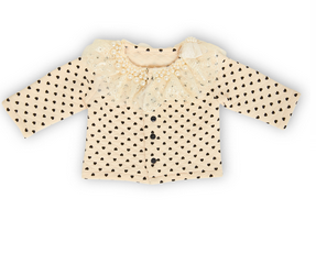 Cream and Black Hearts Boutique Jacket 12-18 Mos - Too Cute for You Baby and Toddler Boutique - 1