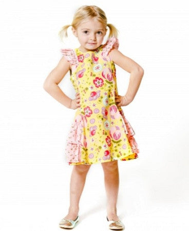 Jelly The Pug Little Girls'Bunnies & Bows Side Ruffle Dress - Too Cute for You Baby and Toddler Boutique - 1