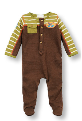 Footed thermal knit coverall JR. PILOT - Too Cute for You Baby and Toddler Boutique - 1
