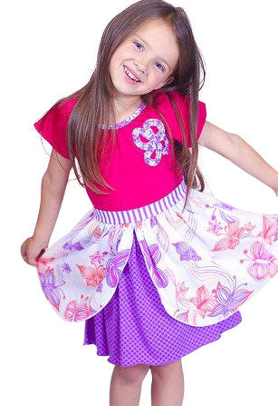Pink and Purple Dress - Too Cute for You Baby and Toddler Boutique