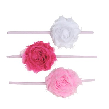 Pink Zoey 3-Pc Headband Set - Too Cute for You Baby and Toddler Boutique - 1