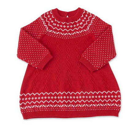 Red Snowflake Sweater Dress - Too Cute for You Baby and Toddler Boutique