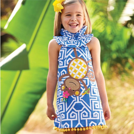 Safari Monkey Dress - Too Cute for You Baby and Toddler Boutique