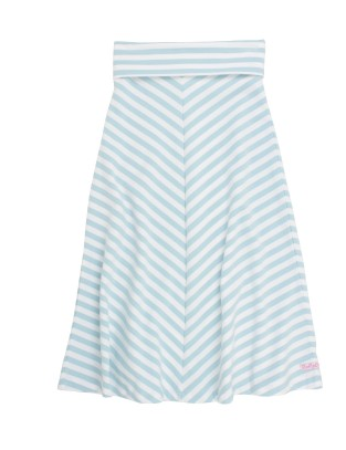 Sky Blue Striped Maxi Skirt - Too Cute for You Baby and Toddler Boutique - 1