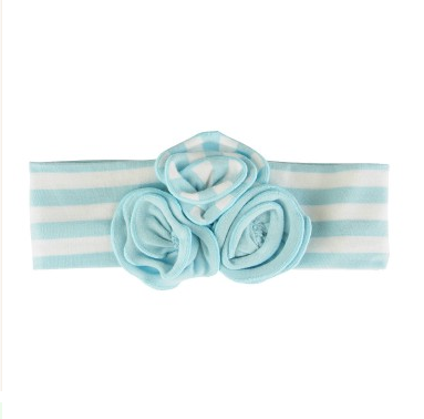 Sky Blue Striped Emily Headband - Too Cute for You Baby and Toddler Boutique - 1