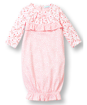 Sweethearts DOT gown with yoke shirring - Too Cute for You Baby and Toddler Boutique - 1
