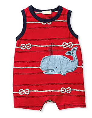 Sleeveless Whale Romper - Too Cute for You Baby and Toddler Boutique