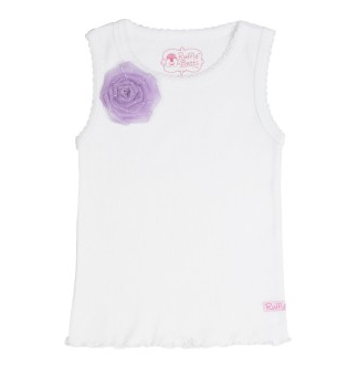 White w/Lavender Flower Tank - Too Cute for You Baby and Toddler Boutique