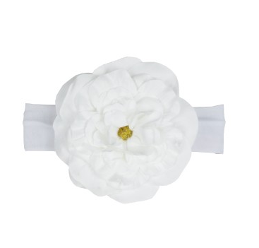 White Aubrey Headband - Too Cute for You Baby and Toddler Boutique - 1