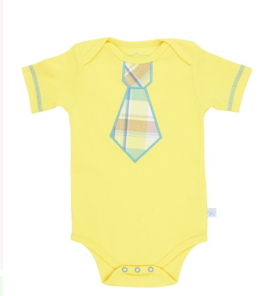 Yellow Daxton Tie One-Piece - Too Cute for You Baby and Toddler Boutique - 1
