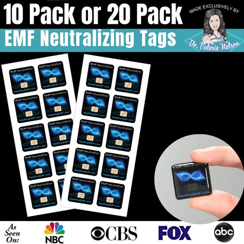 Cell Phone EMF Protection Radiation Neutralizers - Choose 5 or 10 or 20 Pack For Price