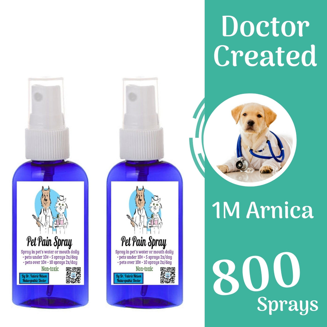 Arnica 1M for Pets - Homeopathic Oral Spray - 800 sprays - Buy One Bottle, Get One FREE!