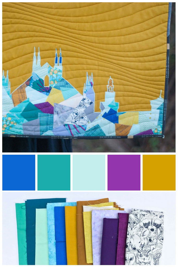 Color Inspiration Aqua Blue Purple Gold Shannon Brinkley Studio