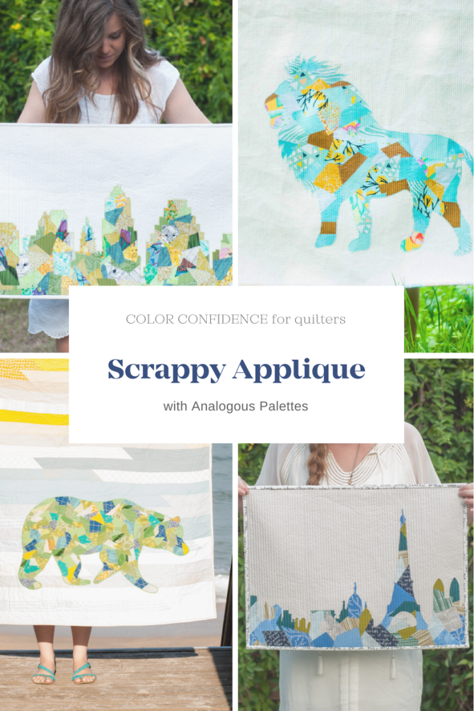 Scrappy Applique Quilts with Analogous Palettes