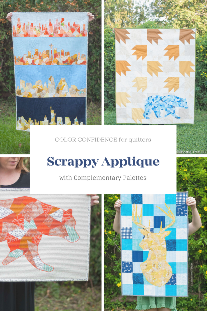 Scrappy Applique Quilts with Complementary Palettes
