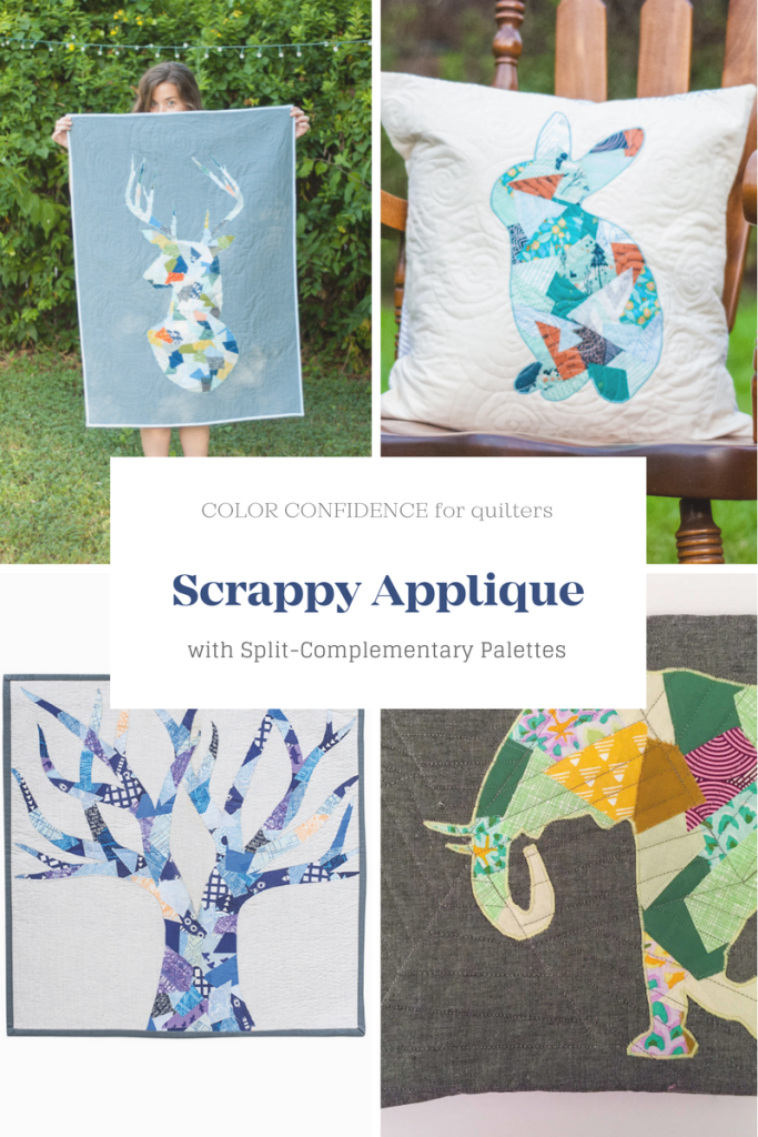 Scrappy Applique Quilts with Split-Complementary Palettes