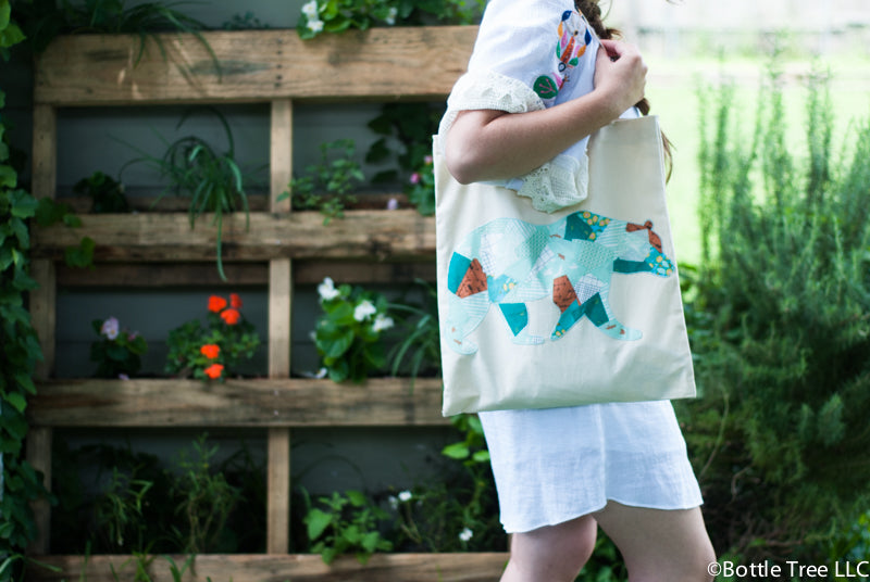 Scrappy Applique Tote-1