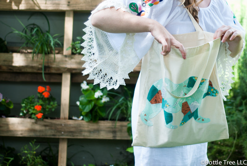 Scrappy Applique Tote-2