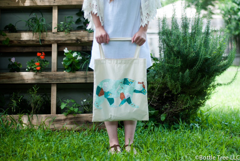 Scrappy Applique Tote-3