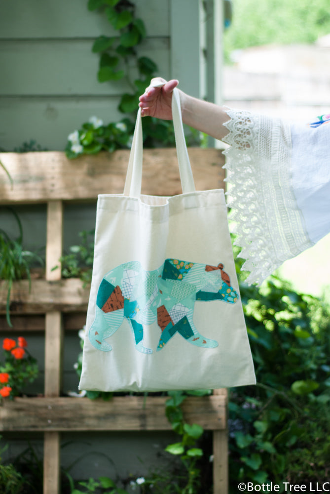 Scrappy Applique Tote-4