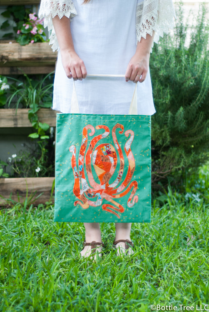 Scrappy Applique Tote-8