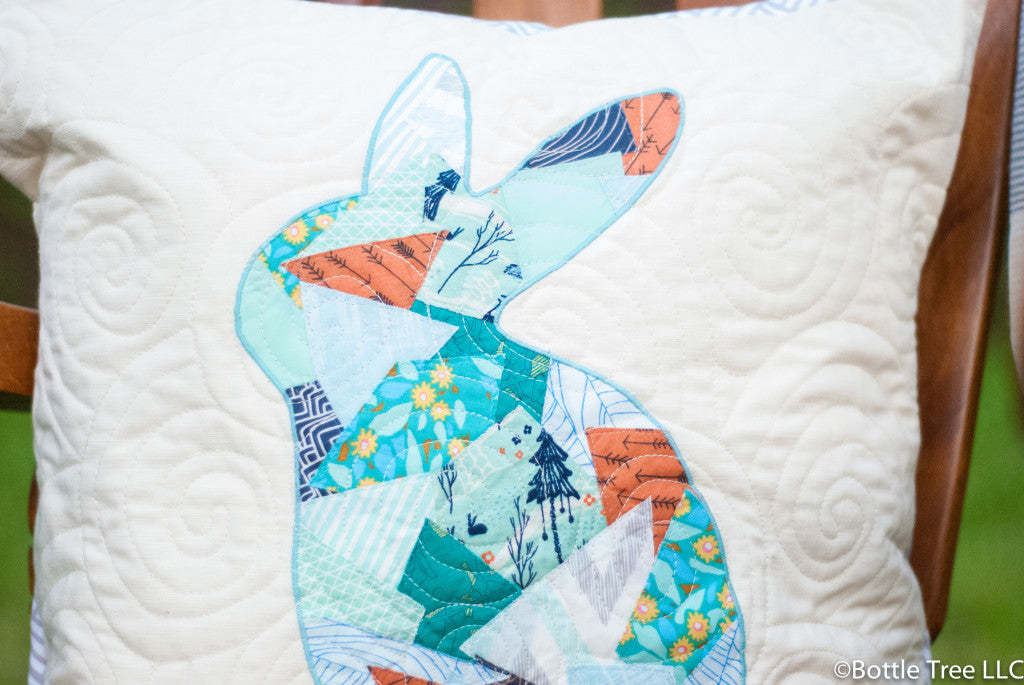 Scrappy Bunny Pillow-4