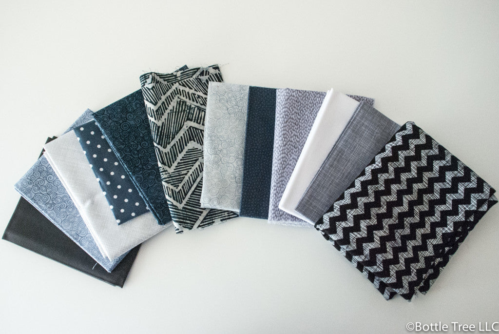 Color Confidence for Quilters: Monochromatic Fabric Bundles