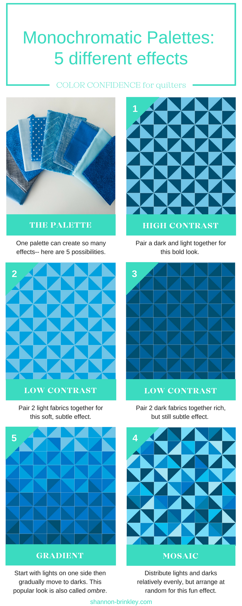 Color Confidence for Quilters -- Monochromatic Palette Effects