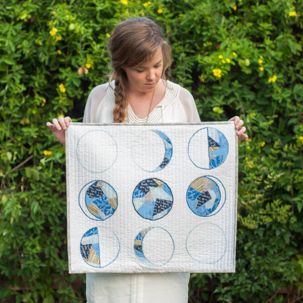Moon Phases Quilted Wall Hanging