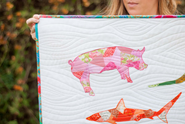 Pig Scrappy Applique PDF Pattern