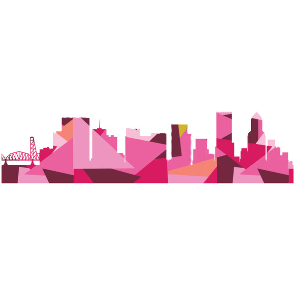 OR, Portland Skyline PDF Pattern