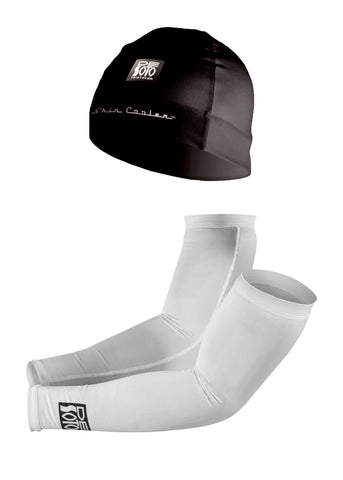 Skin Cooler Combo - Arm Coolers and Helmet Beanie