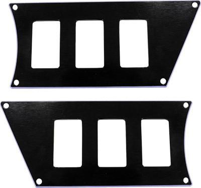 MODQUAD-DASH 6 SWITCH PLATE (BLACK) pn# RZR-SP6-1K-BLK - planetrzr.com