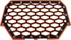 MODQUAD-2-PANEL FRONT GRILL (BLACK/ORANGE) pn# RZR-FG2-OR - planetrzr.com