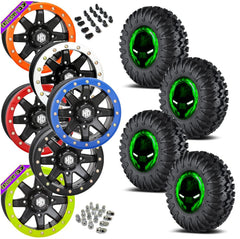 EFX Motoclaw STI HD9 Black Beadlock Tire Wheel Kit 27-10-14